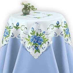 Collections Etc Elegant Spring Table Linens with Embroidered