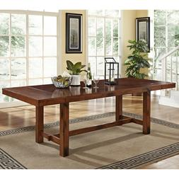 Extra Large Dining Table Rustic Adjustable Wood Expandable D