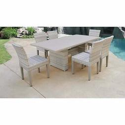 Fairmont Rectangular Outdoor Patio Dining Table with 6 N/A 7