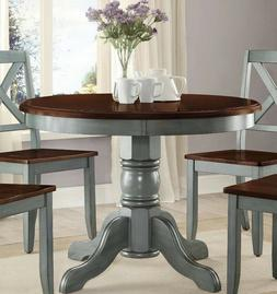 Farmhouse Dining Table Round French Country Kitchen Rustic D