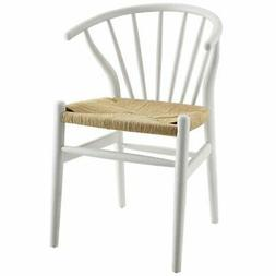 Modway Flourish Windsor Dining Side Chair in White