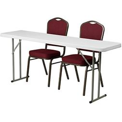 Flash Furniture 18'' x 72'' Plastic Folding Training Table S
