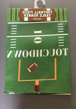 "Football Field Table Runner 13x72"" Super Bowl Party Tailgate"