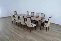 Formal 11pc Dining Room Set Extendable Table Side Chair Hand