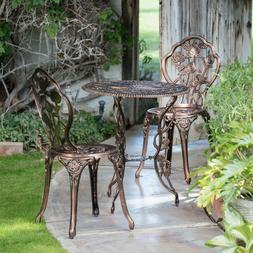 French Bistro Set Small Patio Garden Furniture Balcony Table
