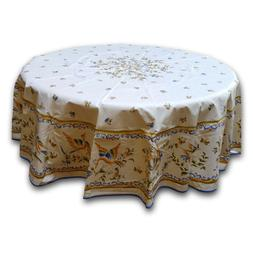French Provencal Round Tablecloth Rectangular Acrylic Coated