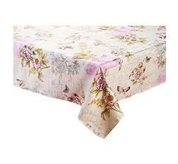 Newbridge French Sentiments Flower Garden Print Fabric Table