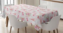 French Tablecloth Ambesonne 3 Sizes Rectangular Table Cover