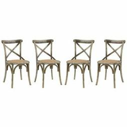 Modway Gear Dining Side Chair in Gray