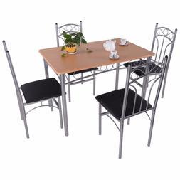 goplus 5pcs dining room set wood