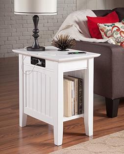 Atlantic Furniture AH13312 Nantucket Side Table Rubberwood,