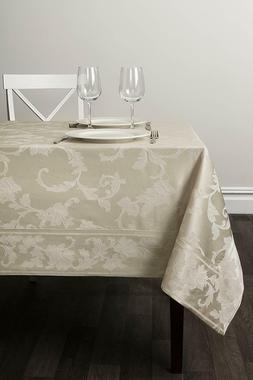 "Benson Mills Harmony Scroll Tablecloth Birch, 60"" X 120"" Rec"