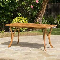 Christopher Knight Home Hermosa Outdoor Acacia Wood Rectangl