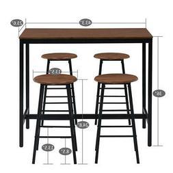 high grade 5 pcs dining table set