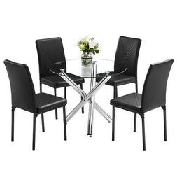 Home Kitchen 5 Piece Dining Set Table And 4 Chairs Room Brea