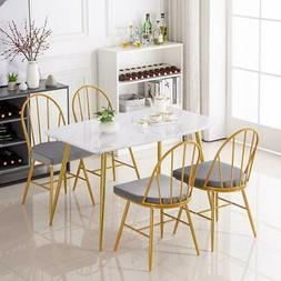 hot 5 piece marble dining table
