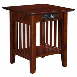 Atlantic Furniture Mission End Table with Charging Station