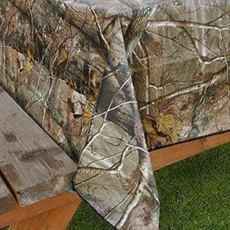 Design Imports Realtree AP PEVA Vinyl Tablecloth Flannel Bac