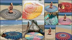 Indian Mandala Cotton Handmade Round Beach Towel Home Decor