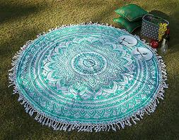 Indian Mandala Round Tapestry Boho Hippie Beach Rug Yoga Mat