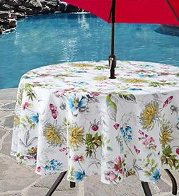 """Indoor Outdoor Spillproof Tablecloth for Spring/Summer 70"""" R"""
