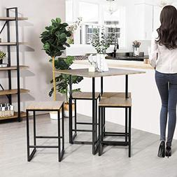 Framodo 5-Piece Kitchen Counter Height Pub Dining Table Set,