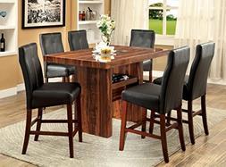 Furniture of America Kona 7-Piece Contemporary Pub Dining Se