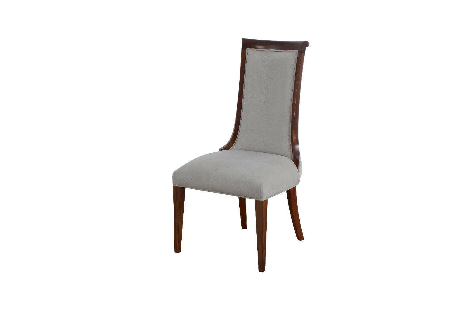 11Pc Luxury Dining Table Leaf Chair Upholstered Fabric