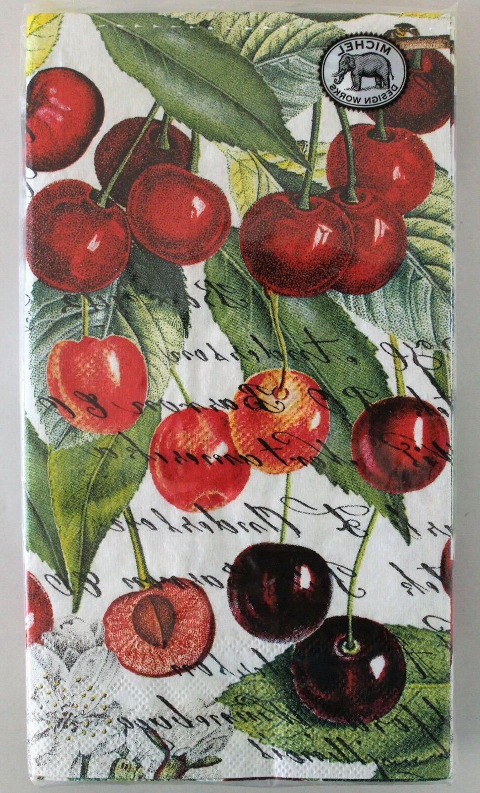 15 x paper napkins fruit black cherry