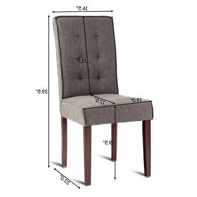 Giantex 2 Dining Bedroom Study Armchairs Mo...