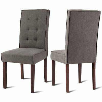 2 pcs parson dining chair living room