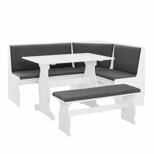 3 pc Top Dining Set Corner Booth Kitchen
