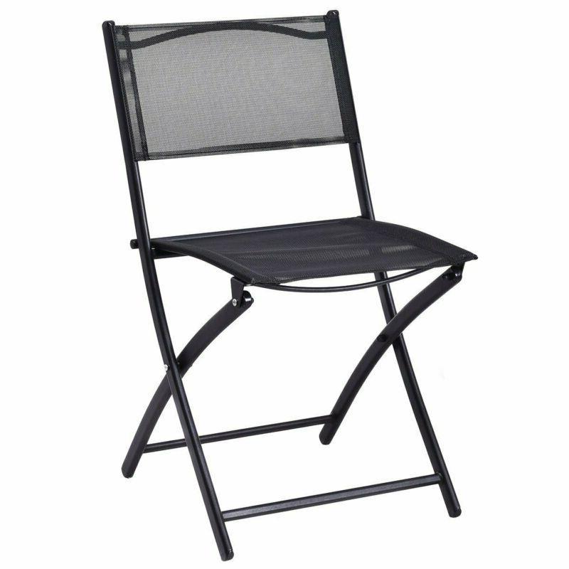 Giantex Pcs Set Garden Backyard Round Table Folding Chairs, With Rust-P