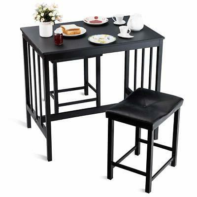 Giantex PCS Height Dining Marble Table 2 Chairs Kitchen Ba...