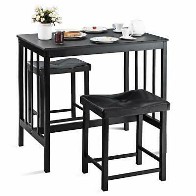 3 pcs counter height dining set faux