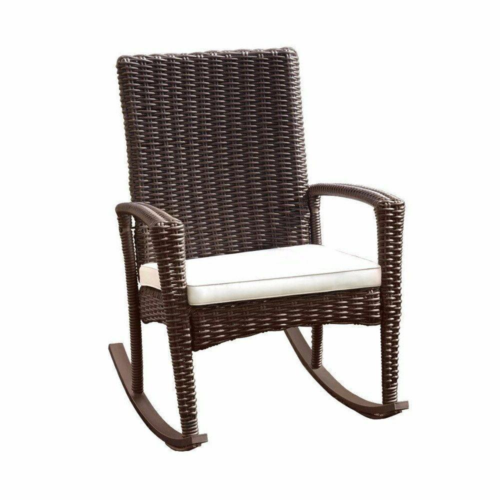 Giantex Rattan Wicker Patio Furniture Set Coffee Table