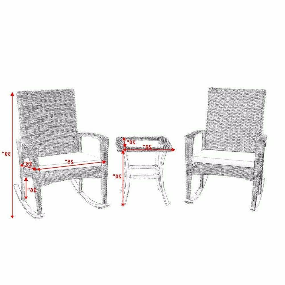 Giantex 3 Wicker Patio Furniture Coffee Table