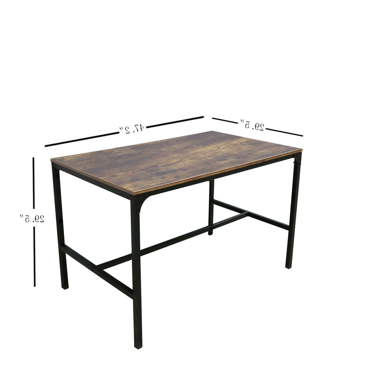 3 Piece Table Set Glass Metal Breakfast Furniture