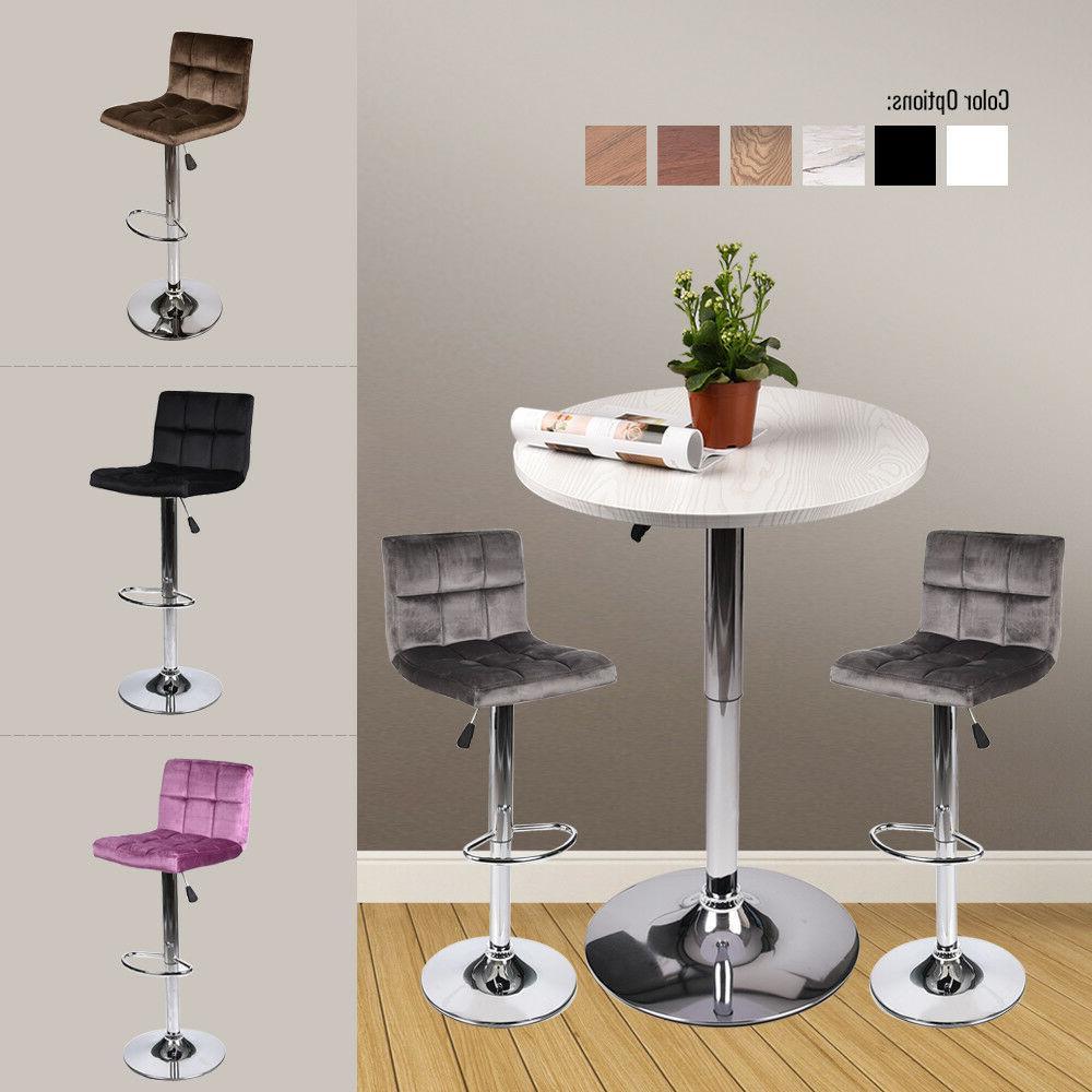 3 pieces bar table stools set adjutable