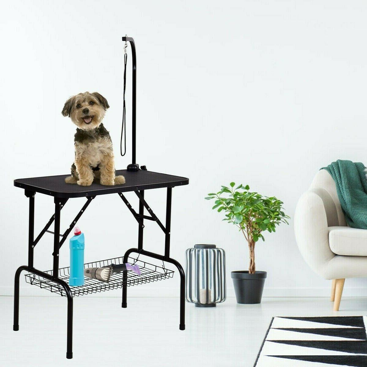 32 pet grooming table durable foldable rubber
