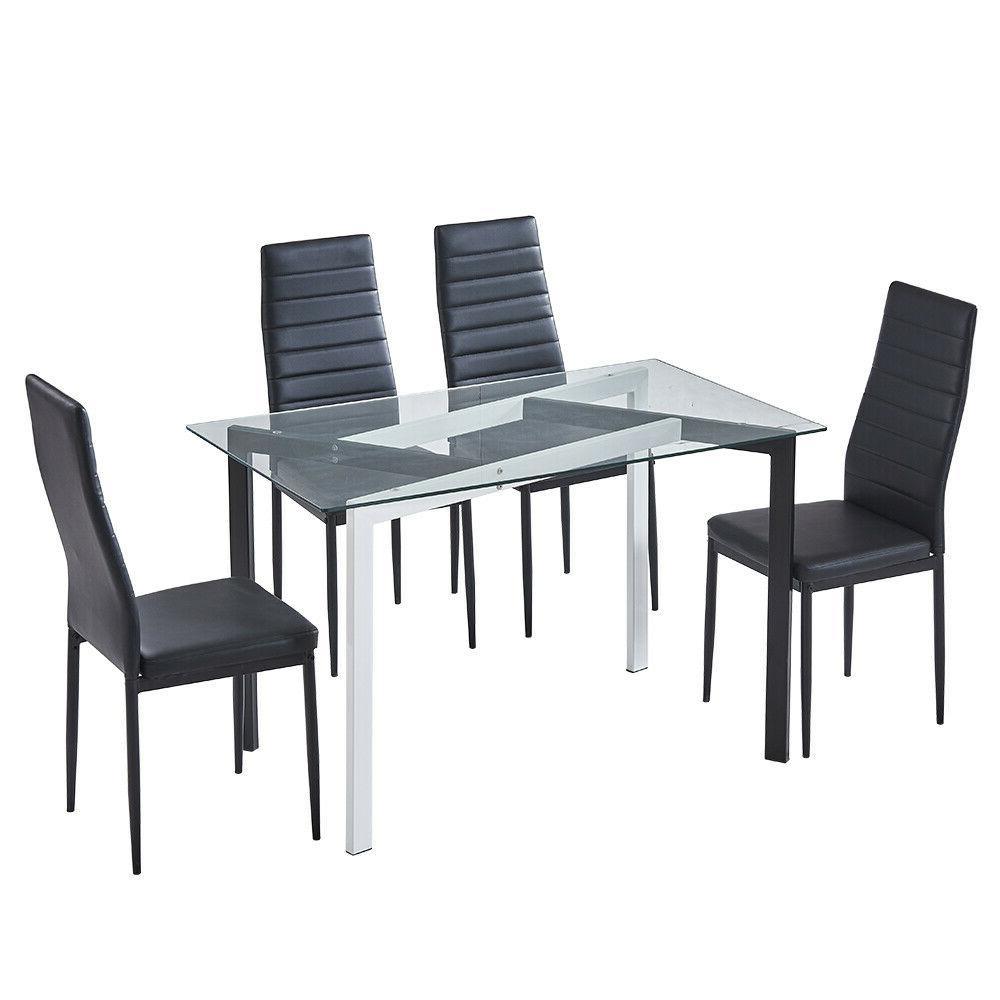 4 Pcs Chairs Glass Dining Leg Decoration Furniture