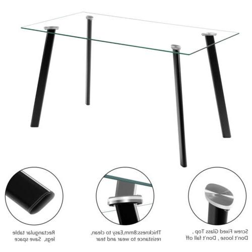 5 Dining Set Glass Table 4 Dining Room Furniture US