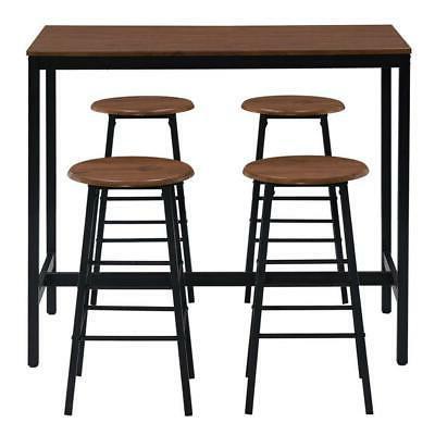 Popular 5 Piece Pub Dining Furniture Round Height