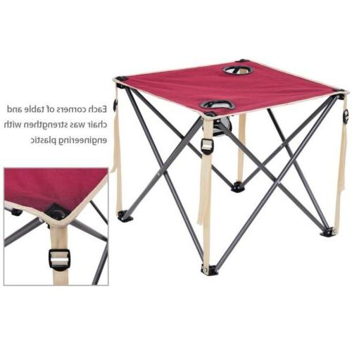 5 Portable Outdoor Table Chairs Set