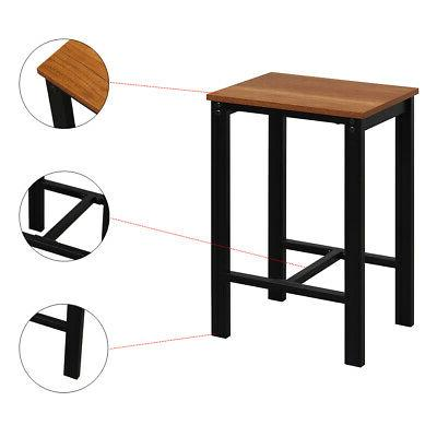 5-Piece Tables Dining Set Table Wood Kitchen Furniture