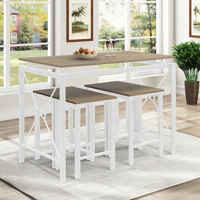 5-Piece Breakfast Dining Set Wood Kitchen
