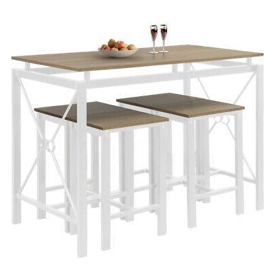 5-Piece Tables Set Wood Kitchen
