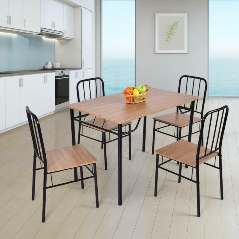 Giantex 5 Dining Set and Chairs Kitchen Modern