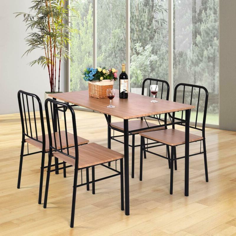Giantex Piece Set 4 Chairs Kitchen
