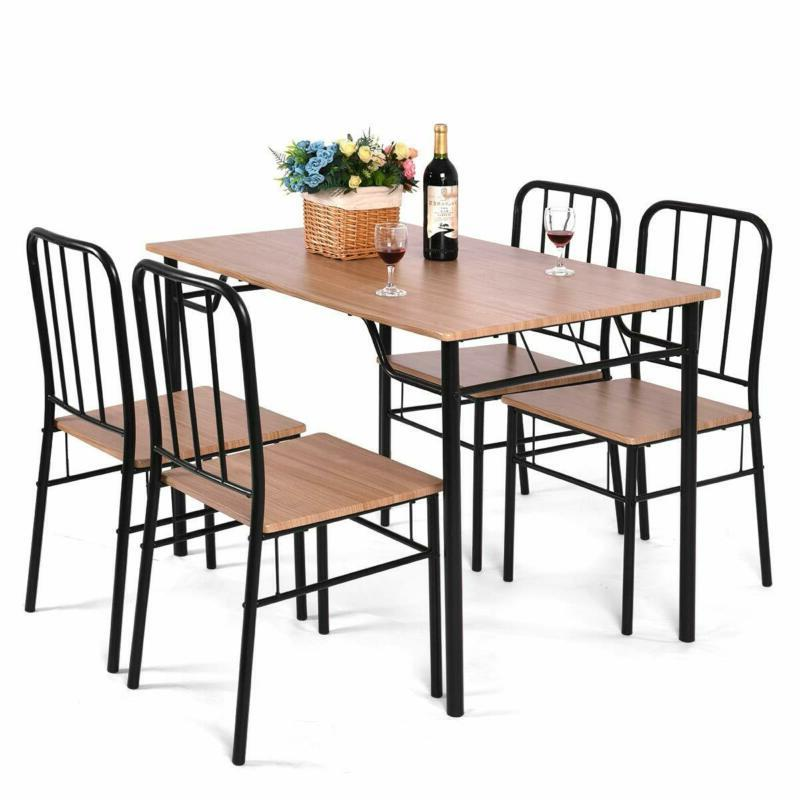 5 piece dining set table and 4